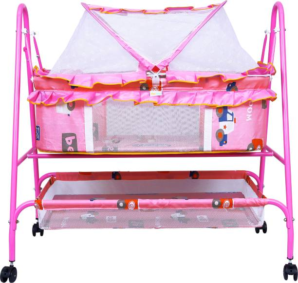 1st Step Cradle With Swing And Mosquito Net Bassinet