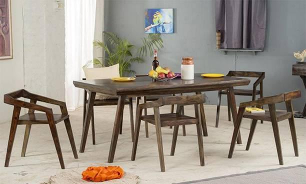 DriftingWood Solid Wood 6 Seater Dining Set
