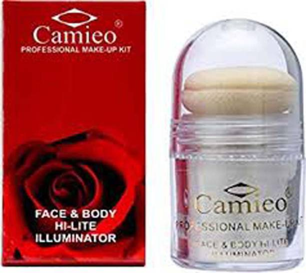 camieo Professional Makeup Kit Face & Body Hi-Lite Illuminator Highlighter WHITE NO6 Highlighter