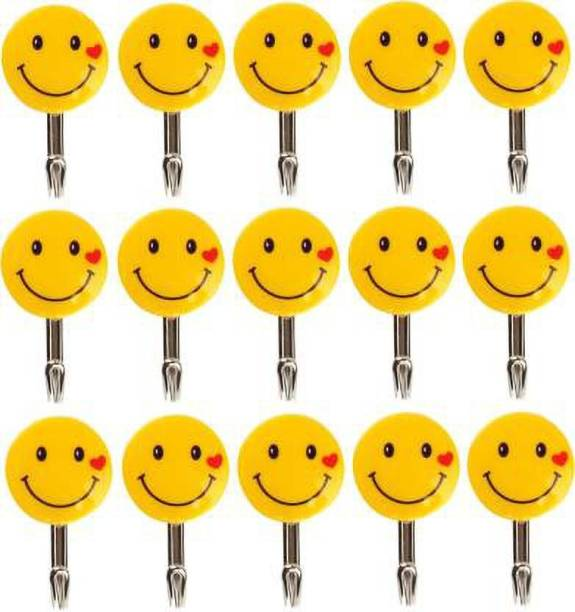 YTM Small Size Smiley self adhesive hooks wall hooks hanging Hook