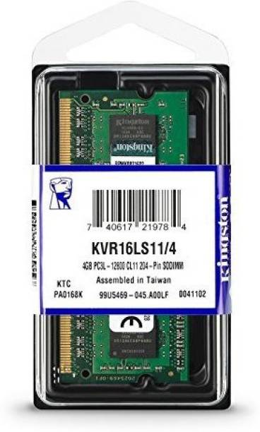 KINGSTON KVR16N11N8/4 1333MHz DDR3 4 GB (Single Channel) Laptop (KVR16N11N8/4 1333MHz Laptop 1.5v)