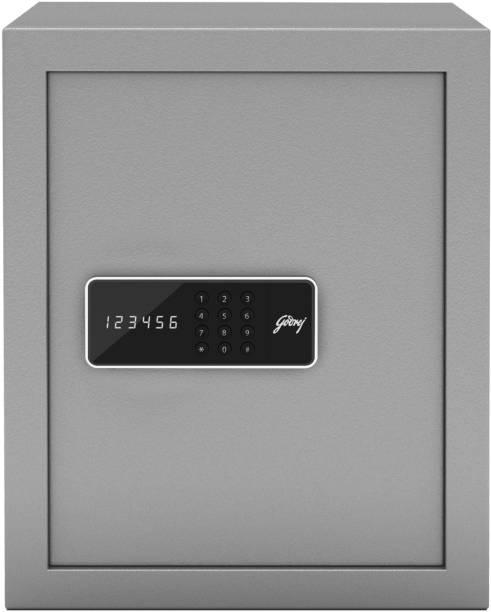 Godrej Forte Pro 40 Litres Digital Electronic Safe Locker for Home & Office with Motorized Locking Mechanism - Grey Safe Locker