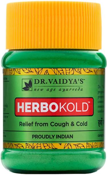 Dr. Vaidya's Herbokold Powder - natural and ayurveda treatment for cold with herbs such as Taj, Elaichi, Jyeshthimadhu - Cold & Cough - Pack of 2