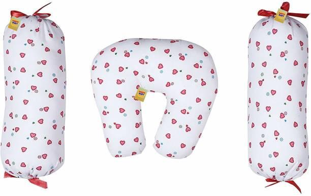 Fareto New Born Baby Bolster Set With U-Shape Pillow(0-3 Months)