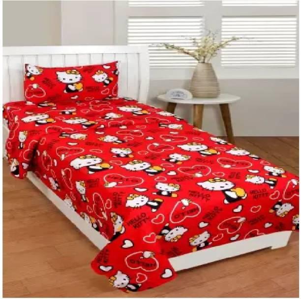 Decor Home Readiness 140 TC Polycotton Single Cartoon Bedsheet