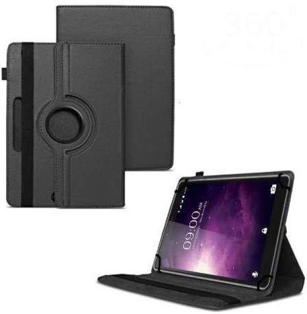 TGK Flip Cover for Lava Magnum X1 Tablet (6.98 inch) / Rotating Leather Stand Case