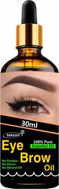 tekzon Eyebrow & Eyelash Growth Oil For Women - Strength with 100% Pure Natural Ingredient 30 ml