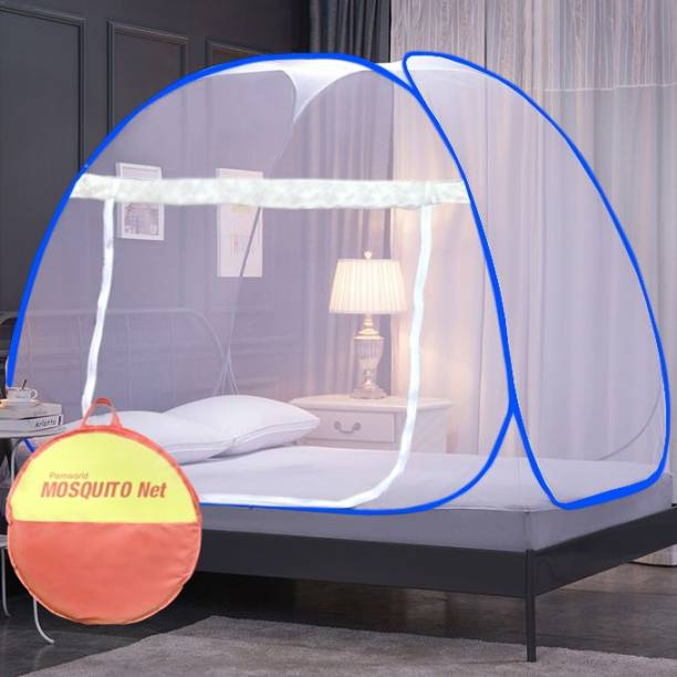pamworld Polyester Adults mosquito net foldable double bed Mosquito Net