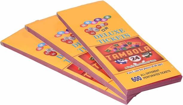 Matzo Deluxe Housie Tambola Tickets (Multicolour) - Set of 1800 Party & Fun Games Board Game