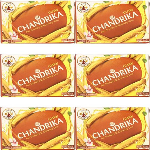 CHANDRIKA sandal and saffron soap 75 gm (pack of 6)