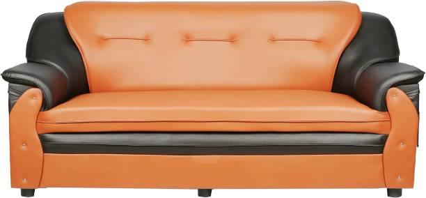 Sekar Lifestyle Home & Office Series Leatherette 3 Seater  Sofa