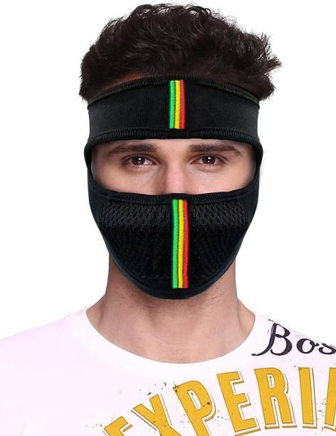 Aadikart Black Bike Face Mask for Men & Women