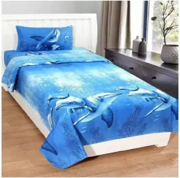 Decor Home Readiness 140 TC Polycotton Single Animal Bedsheet