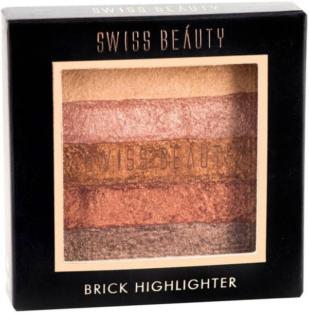 SWISS BEAUTY Baked Blusher & Highlighter Brick