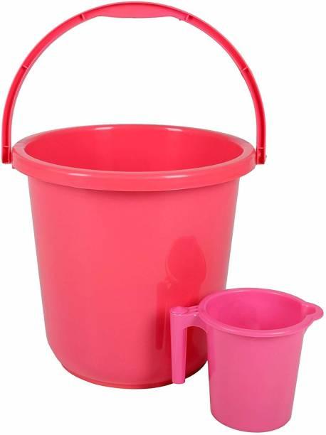 3D METRO SUPER STORE Unbreakable Plastic Bucket With Mug 16 L Plastic Bucket