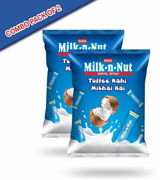 Mahak Milk-N-Nut candy pouch with the taste of nariyal mithai ( pack of 2) Nariyal Toffee