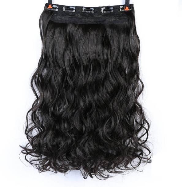 Abrish Stylish Silky Black wavy 24 inch Hair Extension