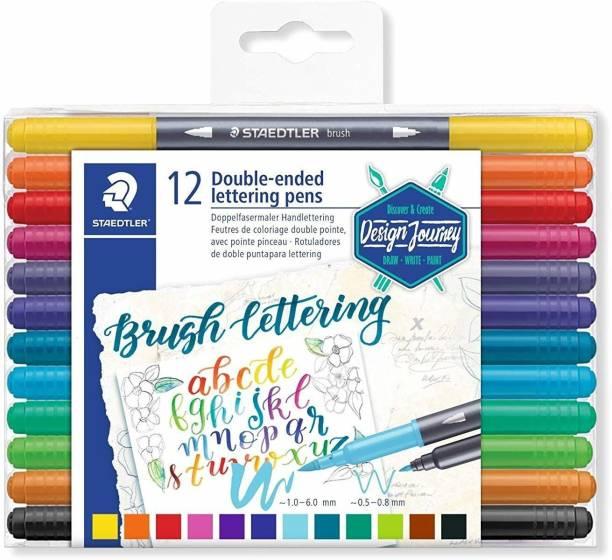 STAEDTLER Double side brush lettering pen 3004 TB12