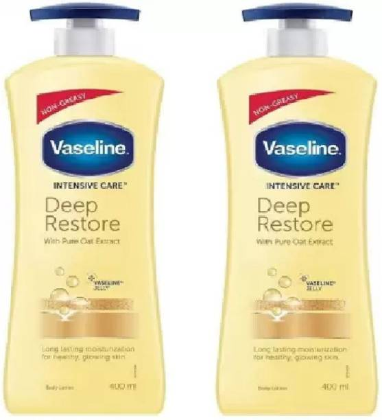 Vaseline Intensive Care Deep Restore Body Lotion (400 ml X 2)