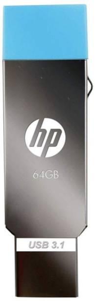 HP OTG 3.1 Metal USB Dual Drive X302M 64 Pen Drive