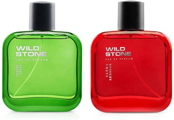 Wild Stone Spice and Ultra Sensual EDP Perfume 100ml Each (Pack of 2) Eau de Parfum  -  200 ml