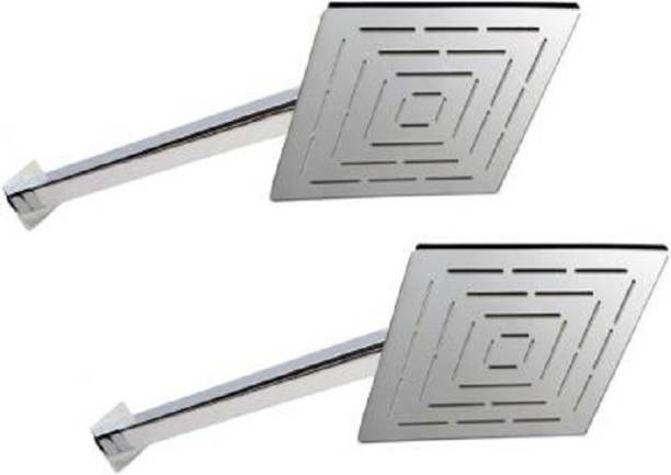 Gold Bell Pack of 2 6x6 Ultra Slim with 12inch Arm Shower Head_i Shower Head