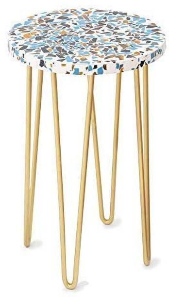 CASA DECOR Garden Table with Metal Hairpin Legs Outdoor & Cafeteria Stool