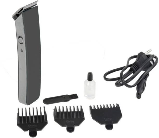 UZAN Black Men Electric Rechargeable Hair Clipper Beard Shaver Barber Cut Machine Set Hair Trimmer  Runtime: 45 min Trimmer for Men
