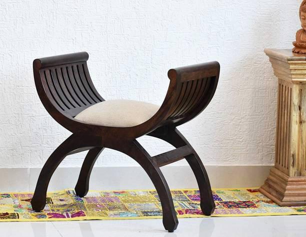 SamDecors solid sheesham wood single seater sofa senate dark brown (lacquer finish, walnut) Solid Wood 1 Seater