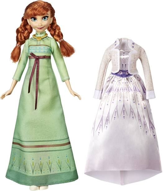 Disney Frozen Arendelle Fashions Anna Fashion Doll, 2 Outfits, Nightgown, Dress, Frozen 2, For Kids Ages 3 & Up