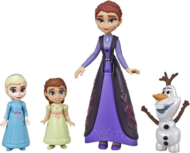 Disney Frozen Family Set Elsa and Anna Dolls with Queen Iduna Doll and Olaf Toy, Inspired by the 2 Movie