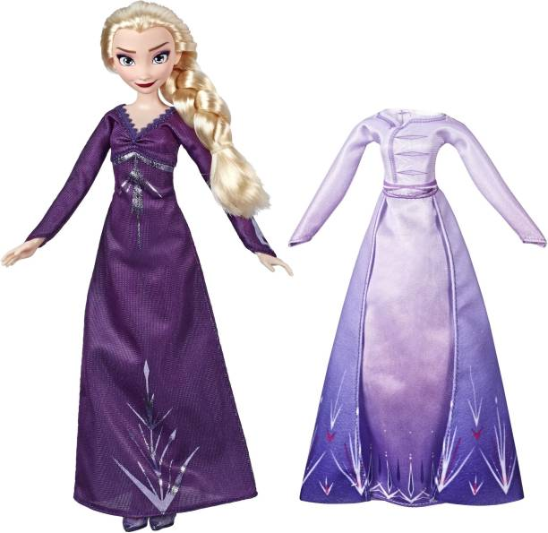 Disney Frozen Arendelle Fashions Elsa Fashion Doll, 2 Outfits, Nightgown,Dress - Frozen 2, For Kids Ages 3 & Up