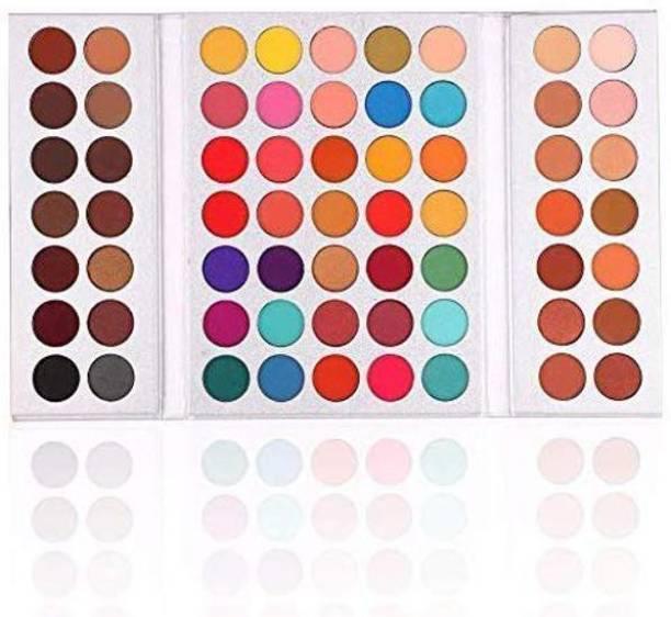 ellwin Eyeshadow Palette - Beauty Glazed 63 Colors Pearlescent Matte Eyeshadow, Eye Cosmetics, Makeup Palette 10 g