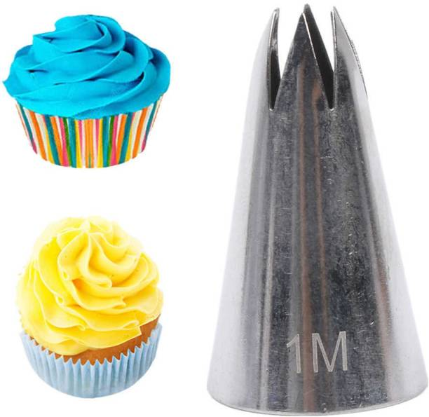 noble foods 1M Nozzle siliver Kitchen Tool Set (siliver) Steel Quick Flower Icing Nozzle