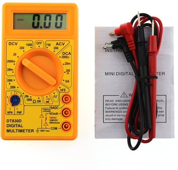 Glun Basic Digital Multimeter with Buzzer Square Wave Output Voltage Ampere Ohm Tester Probe DC AC LCD Overload Protection (not for professional use) Digital Multimeter