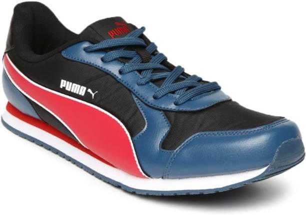 PUMA Puma Men Black Blue Cabana IDP Sneakers Sneakers For Men