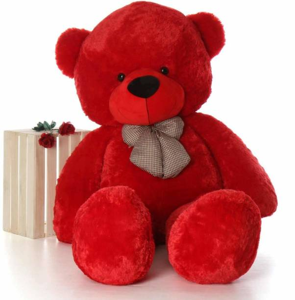 Shoppingkarts 36 inch Teddy Bear Stuffed Animals, Soft Cuddly Stuffed Plush Bear, Cute Stuffed Animals Toy, Gifts for Kids Baby Toddlers on Baby Shower, Birthday, Red Color  - 91 cm