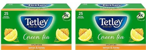 tetley HONEY LEMON GREEN TEA (2*25 tea bags envelope) Honey, Lemon Green Tea Bags Box