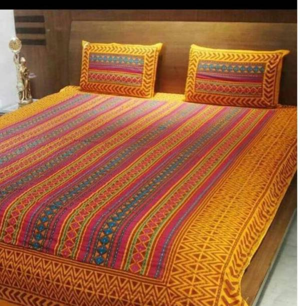 mohit creation 235 TC Cotton Double Printed Bedsheet