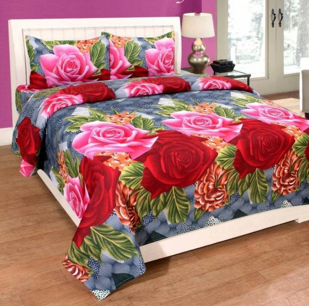 Ambey Textiles 152 TC Cotton Double King Printed Bedsheet