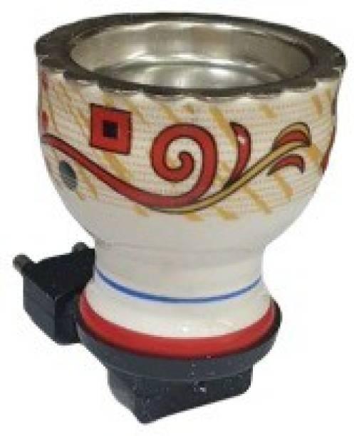 MDTL Multipurpose Direct Plug in Mini Ceramic Electric Incense Burner Bakhoor Dani Kapoor Dani Aroma Diffuser Ceramic Incense Holder (Multicolor) Ceramic Incense Holder