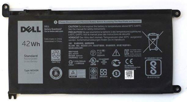 DELL Genuine Original WDX0R 42Whr 4-cell 11.4V laptop Battery for Inspiron 5368 5378 5565 5567 5568 5578 5765 5767 7368 7378 7560 7570 7579 7569 (Type WDXOR) 4 Cell For Inspiron 15 5568 / 13 7368 3crh3 I7368-0027 WDX0R WDXOR 4 Cell Series Laptop Battery 4 Cell Laptop Battery