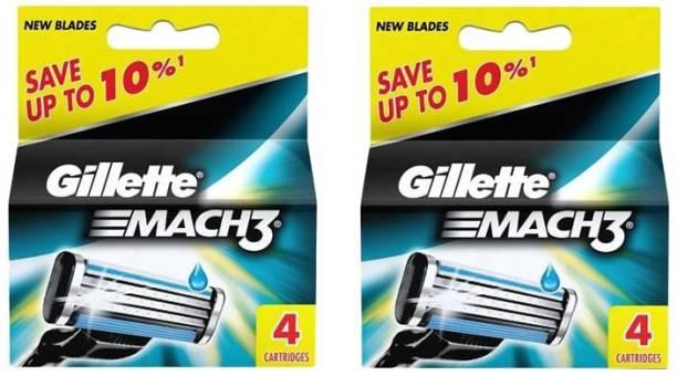 GILLETTE MACH 3 CARTRIDGES 4+4PACK