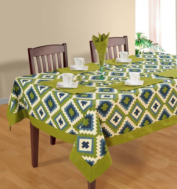 SWAYAM Floral 6 Seater Table Cover