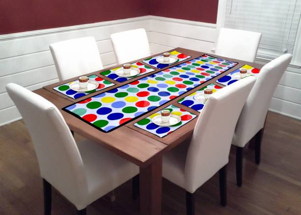 WebDealz Multicolor PVC Table Linen Set