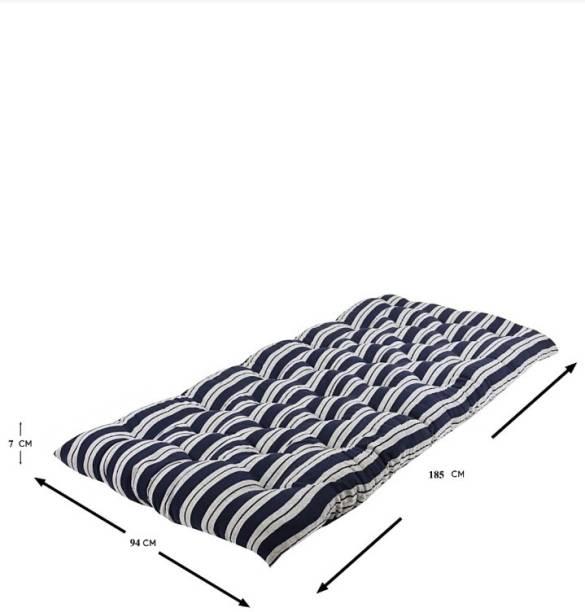 MOROFEEL 3X6 Blue & white 3 inch Single Cotton Mattress