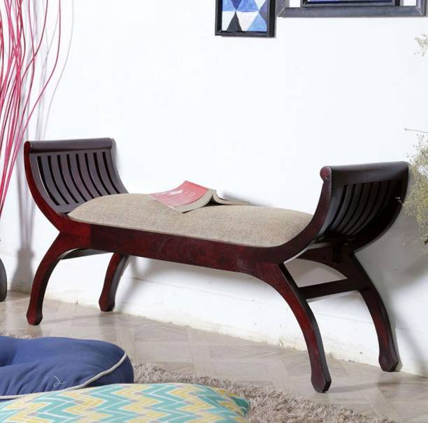 SamDecors solid sheesham wood two seater sofa senate Fabric 2 Seater