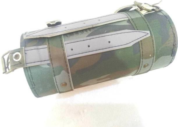 KOHLI BULLET ACCESSORIES Bikes Classic Avenger Army Colour Round Tool Bag Bike Luggage Box