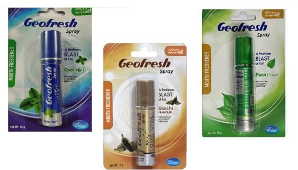 geofresh Geofresh Mouth Spray Cool Mint + Elaichi + Paan Flavor ( 3 Pc x 15 gm ) Spray