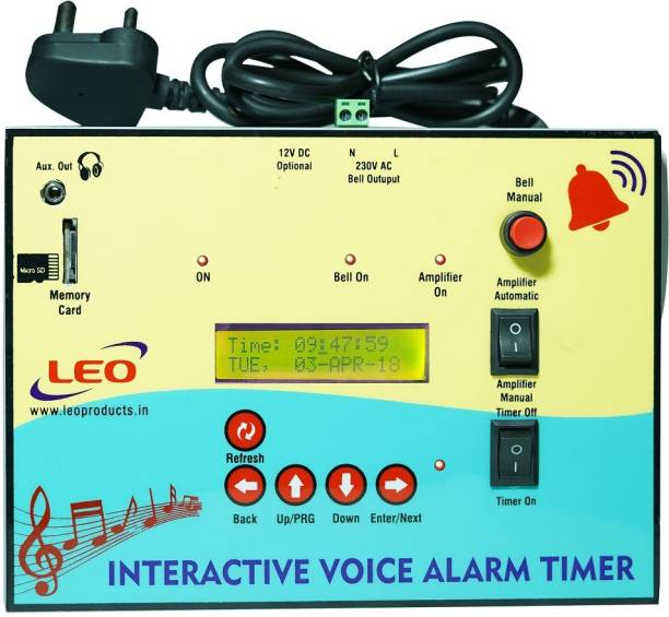Leo Interactive Voice Alarm Timer Programmable Electronic Timer Switch